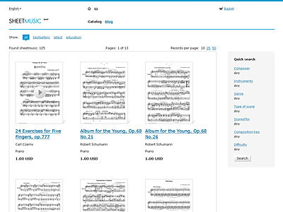 SheetMusic Shop