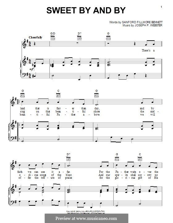 Sweet By and By: For voice and piano (or guitar) by Joseph Philbrick Webster