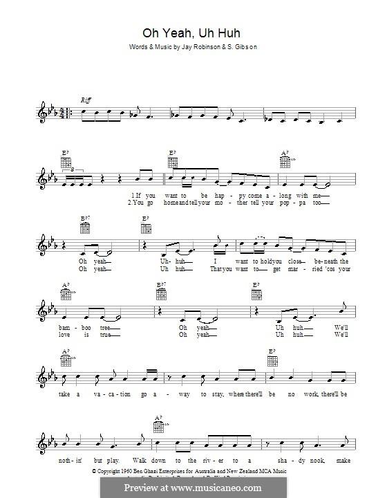 uh yeah oh huh music musicaneo lyrics interactive score chords