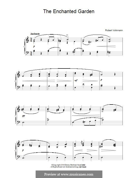 The enchanted garden by r volkmann sheet music on musicaneo - Enchanted garden collection free download ...