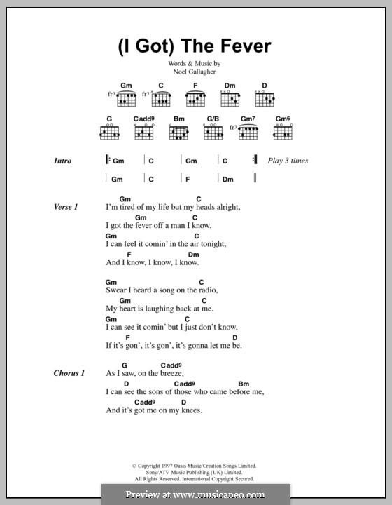 Oasis - (I Got) The Fever Lyrics | MetroLyrics