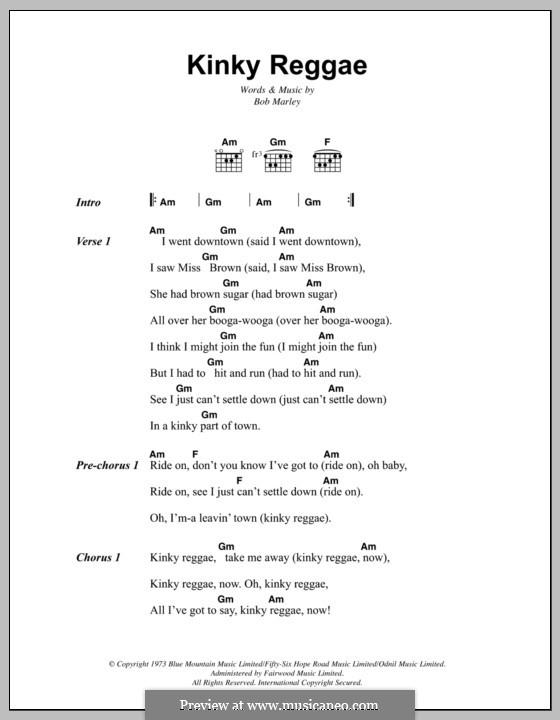 kinky reggae by b marley sheet music on musicaneo. Black Bedroom Furniture Sets. Home Design Ideas