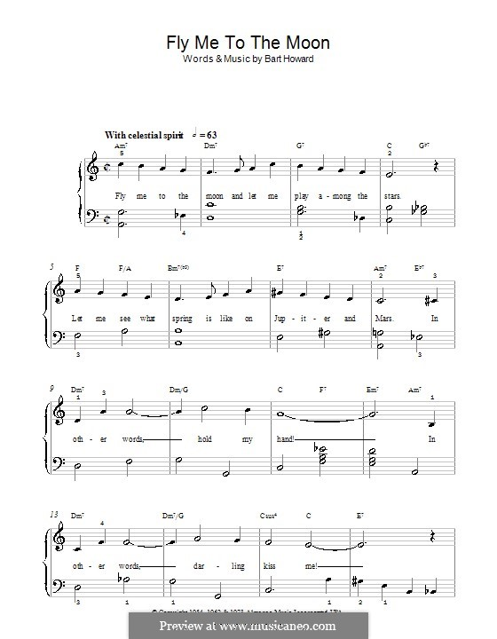 fly me to the moon piano sheet music pdf