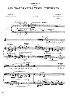 Les Grands Vents Venus D'outremer, M.48: Les Grands Vents Venus D'outremer by Maurice Ravel