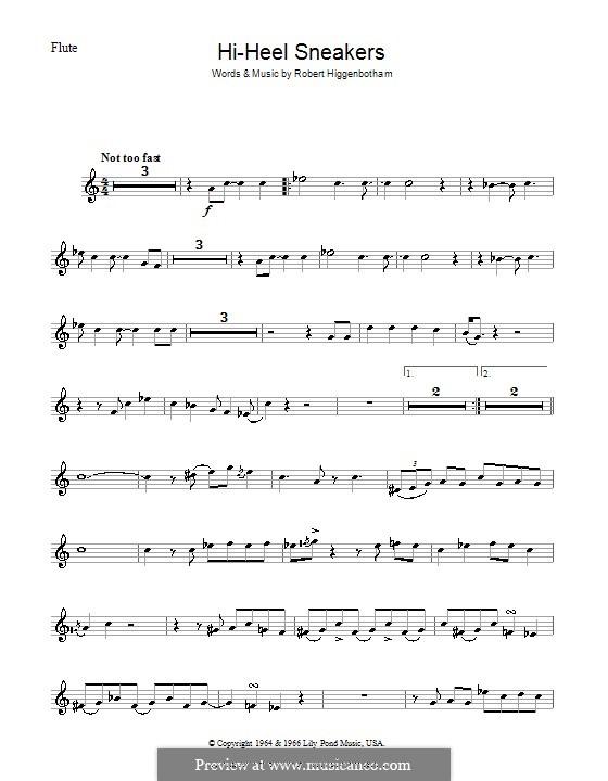 Hi-Heel Sneakers (Tommy Tucker): For flute by Robert Higginbotham