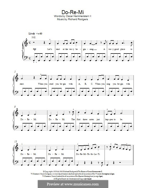 Do-Re-Mi (from The Sound of Music): For easy piano by Richard Rodgers
