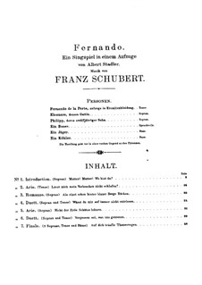 Fernando, D.220: Fernando by Franz Schubert