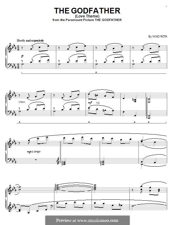 godfather sheet music alto