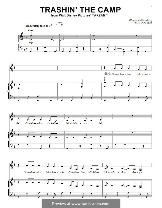 free sheet music for piano disney