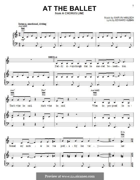 A Chorus Line - At The Ballet Lyrics   MetroLyrics