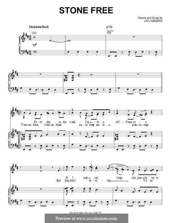 stone free hendrix chords