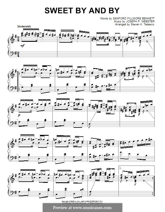 In the Sweet By and By: For piano by Joseph Philbrick Webster