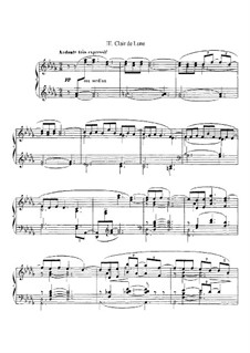 Cello sheet music clair de lune