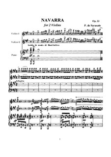 Navarra, Op.33: For violin and piano by Pablo de Sarasate