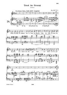 Four Songs, Op.142: Piano-vocal score by Robert Schumann