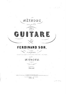 Complete Method for Guitar: Complete Method for Guitar by Fernando Sor