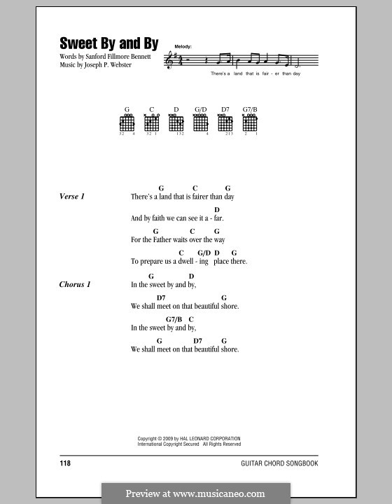 In the Sweet By and By: Lyrics and chords by Joseph Philbrick Webster