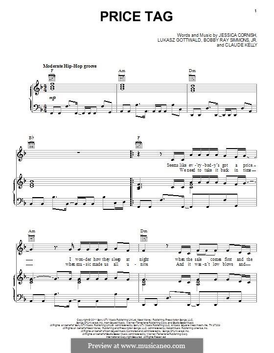 Ukulele u00bb Price Tag Ukulele Chords - Music Sheets, Tablature, Chords and Lyrics
