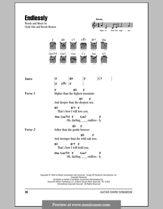 Endlessly by C. Otis - sheet music on MusicaNeo