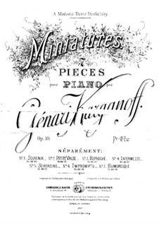 Miniatures, Op.10: Miniatures by Gennady Korganov