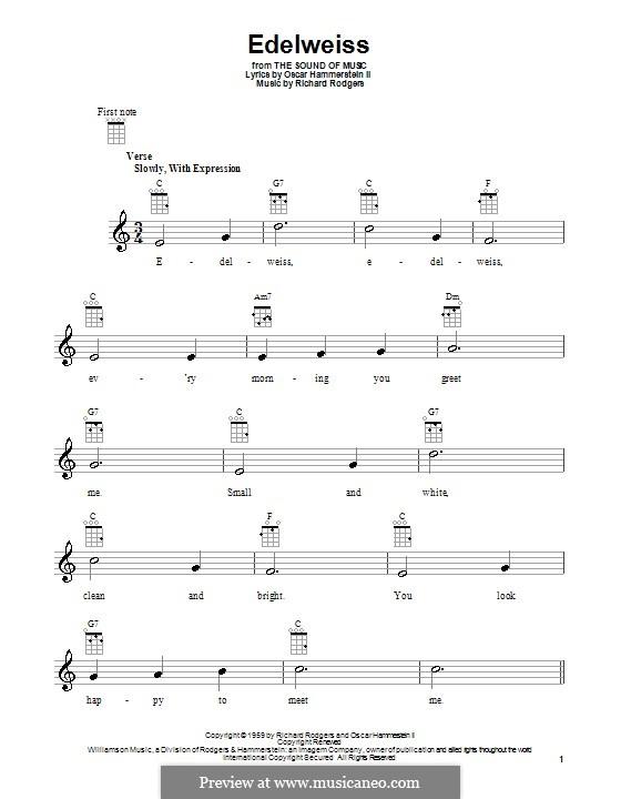 Ukulele : ukulele tabs edelweiss Ukulele Tabs Edelweiss , Ukulele Tabsu201a Ukulele