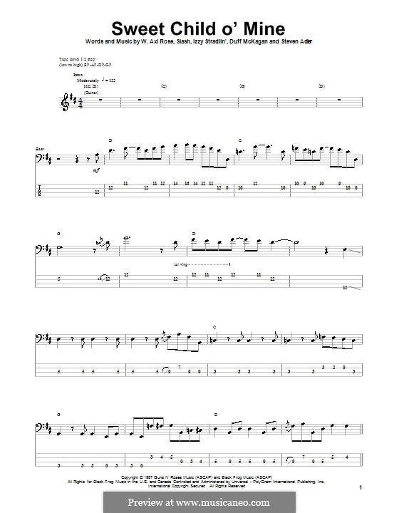 Guitar : guitar tabs sweet child of mine Guitar Tabs or Guitar Tabs Sweetu201a Guitar Tabs Sweet ...
