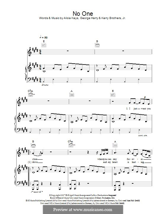 Alicia Keys Unthinkable Sheet Music Alicia Keys no One Piano Music