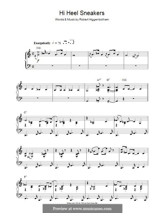 Hi-Heel Sneakers (Tommy Tucker): For piano by Robert Higginbotham