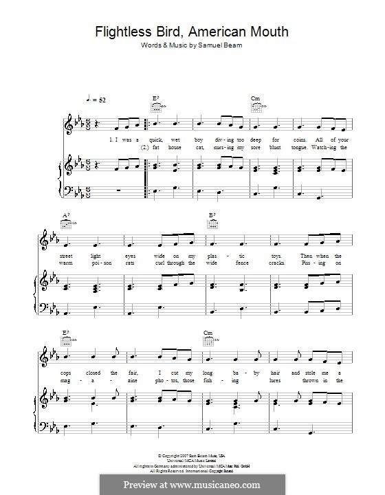 Flightless Bird American Mouth On Piano 45