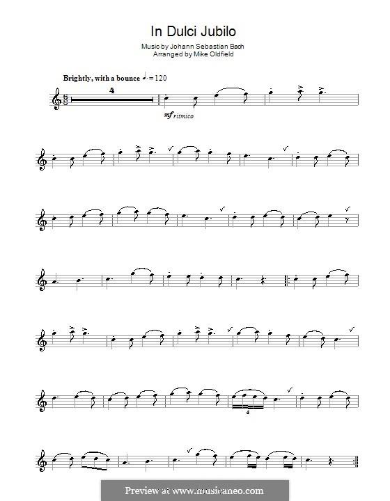 In Dulci Jubilo: For flute by Johann Sebastian Bach