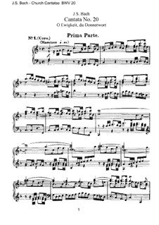 O Ewigkeit, du Donnerwort, BWV 20: Piano-vocal score by Johann Sebastian Bach