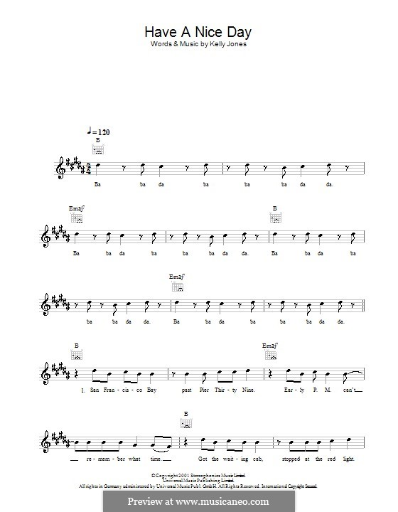 Best Have A Nice Day Stereophonics Ukulele Chords Image Collection