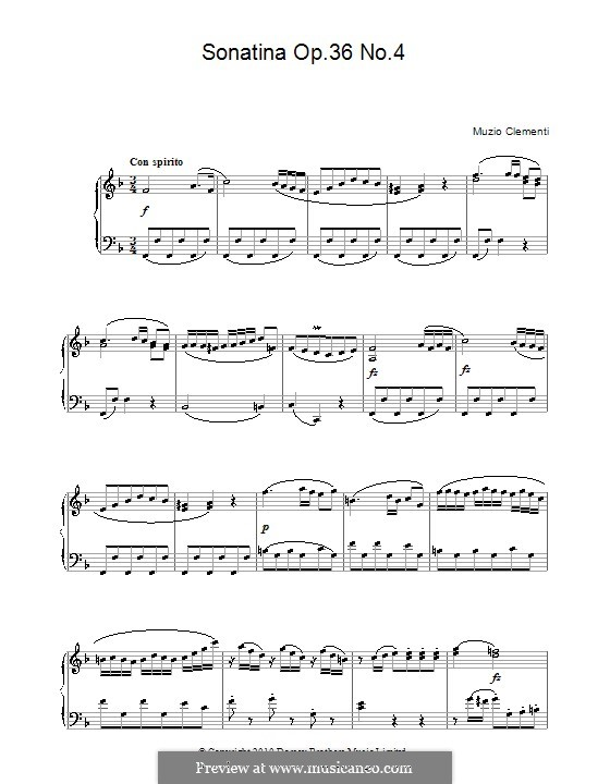 Sonatina No.4: For piano by Muzio Clementi