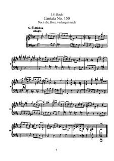 Nach dir, Herr, verlanget mich, BWV 150: Piano-vocal score by Johann Sebastian Bach