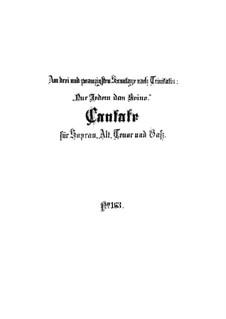 Nur jedem das Seine, BWV 163: Full score by Johann Sebastian Bach
