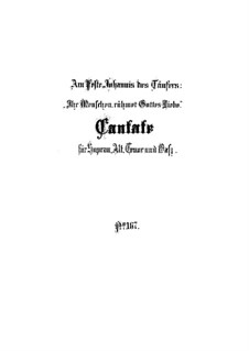 Ihr Menschen, rühmet Gottes Liebe, BWV 167: Full score by Johann Sebastian Bach