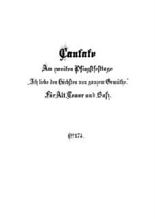 Ich liebe den Höchsten von ganzem Gemüte, BWV 174: Full score by Johann Sebastian Bach