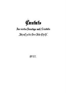 Ich ruf zu dir, Herr Jesu Christ, BWV 177: Full score by Johann Sebastian Bach