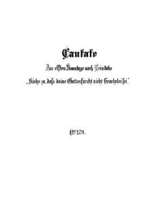 Siehe zu, daß deine Gottesfurcht nicht Heuchelei sei, BWV 179: Full score by Johann Sebastian Bach