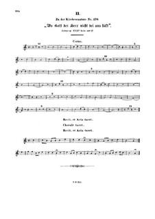 Wo Gott der Herr nicht bei uns hält, BWV 178: French horn part by Johann Sebastian Bach