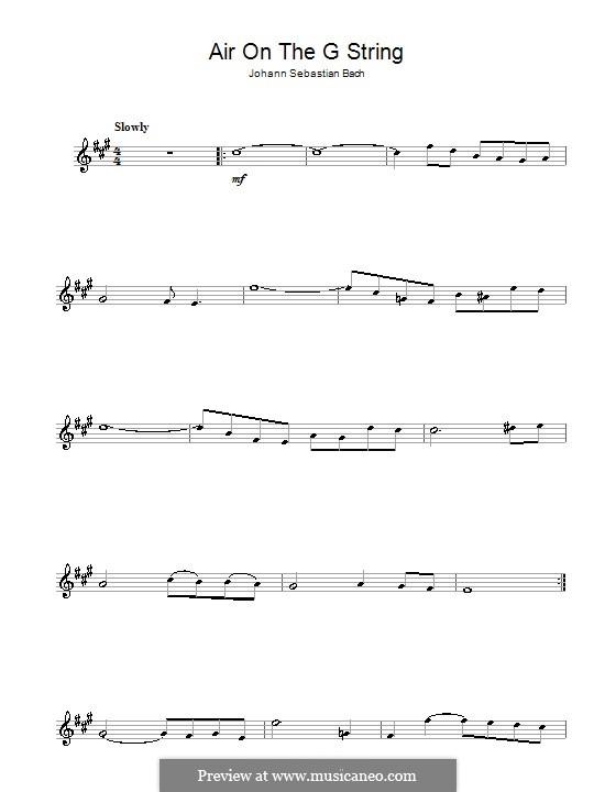 Aria: Version for alto saxophone by Johann Sebastian Bach