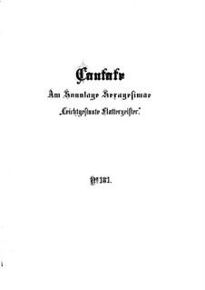 Leichtgesinnte Flattergeister, BWV 181: Full score by Johann Sebastian Bach