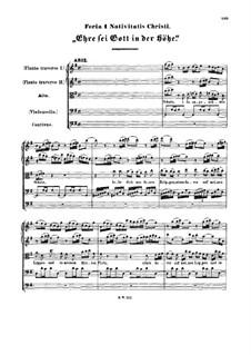 Ehre sei Gott in der Höhe, BWV 197a: Ehre sei Gott in der Höhe by Johann Sebastian Bach