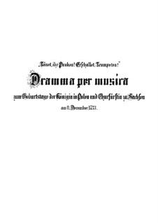 Tönet, ihr Pauken! Erschallet, Trompeten!, BWV 214: Tönet, ihr Pauken! Erschallet, Trompeten! by Johann Sebastian Bach