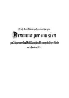 Preise dein Glücke, gesegnetes Sachsen, BWV 215: Preise dein Glücke, gesegnetes Sachsen by Johann Sebastian Bach