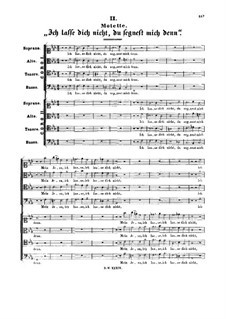Ich lasse dich nicht, du segnest mich denn, BWV Anh.159: Ich lasse dich nicht, du segnest mich denn by Johann Sebastian Bach