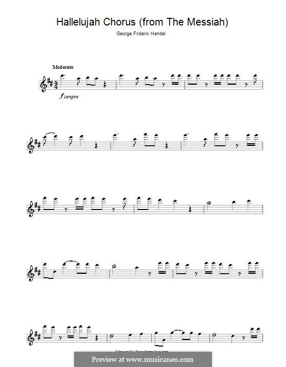 No.44 Hallelujah: For flute by Georg Friedrich Händel