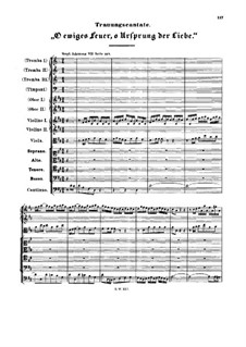 O ewiges Feuer, o Ursprung der Liebe (O Eternal Fire, o Source of Love), BWV 34a: O ewiges Feuer, o Ursprung der Liebe (O Eternal Fire, o Source of Love) by Johann Sebastian Bach