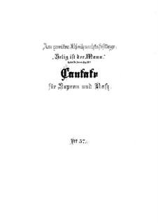Selig ist der Mann, BWV 57: Full score by Johann Sebastian Bach