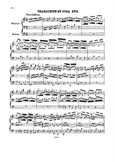Prelude and Fugue No.17 in C Major, BWV 547: Prelude and Fugue No.17 in C Major by Johann Sebastian Bach